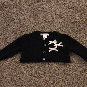 Janie and Jack black cardigan with bows